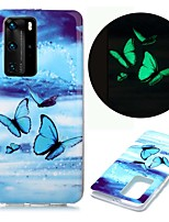 cheap -Case For Huawei Huawei P40 Pro Huawei P40 lite Huawei P40 Glow in the Dark Pattern Back Cover Colorful Butterflies TPU for Huawei Honor 10 Lite Y5 2019 Y6 2019 Y7 2019