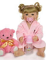 cheap -KEIUMI 22 inch Reborn Doll Baby & Toddler Toy Reborn Toddler Doll Baby Girl Gift Cute Washable Lovely Parent-Child Interaction Full Body Silicone KUM23FS01-WGW76 with Clothes and Accessories for