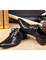 cheap -Men's Dress Shoes Summer / Fall Daily Party & Evening Oxfords Cowhide Handmade Black