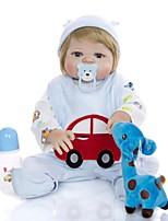cheap -KEIUMI 22 inch Reborn Doll Baby & Toddler Toy Reborn Toddler Doll Baby Girl Gift Cute Washable Lovely Parent-Child Interaction Full Body Silicone 23D56-C215-T02 with Clothes and Accessories for