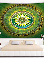 cheap -Wall Mandala Tapestry Bohemian Wall Hanging Art Carpet Blanket Yoga Mat Decorative Vintage Green Tapestry for Home