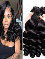cheap -4 Bundles Hair Weaves Peruvian Hair Loose Wave Human Hair Extensions Remy Human Hair 100% Remy Hair Weave Bundles 400 g Natural Color Hair Weaves / Hair Bulk Human Hair Extensions 8-28 inch Natural