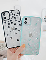 cheap -Case For Apple iPhone 11 / iPhone 11 Pro / iPhone 11 Pro Max Pattern Back Cover Glitter Shine / Flower TPU / Silica Gel