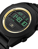 cheap -BENYAR Men's Sport Watch Digital Modern Style Sporty Outdoor Water Resistant / Waterproof Silicone Black Digital - Blue Gold / Calendar / date / day / Chronograph
