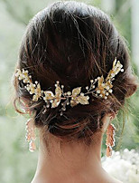 cheap -Women's Hair Combs For Party Evening Festival Tassel Imitation Pearl Alloy Golden 1pc
