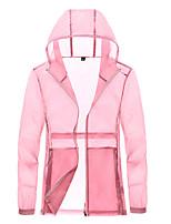 cheap -Women's Girls' Hiking Jacket Hiking Windbreaker Outdoor Windproof Quick Dry Detachable Cap Top White / Pink / Grey / Blue