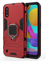 cheap -Case For Samsung Galaxy S9 S9 Plus S8 Plus S10 S10 Plus S10e A8 2018 A8 Plus A9 A8S A30 A50 M20Ring Holder Back Cover Solid Colored Armor TPU PC