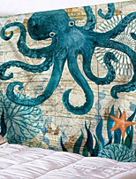 cheap -Home Living Tapestry Wall Hanging Tapestries Wall Blanket Wall Art Wall Decor Ocean Octopus Tapestry Wall Decor