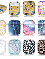 cheap -Case For AirPods 1 2 Ultra-thin Pattern Headphone Case Soft TPU MAGIC QUICKSAND INK KALA LEOPARD