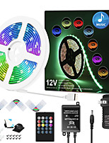 cheap -ZDM 7.5M Music Synchronous Happy Multicolour Light Strip with 20-Key Remote Sensitive 5050 RGB LED Light Strip Kit and DC12V Adpater