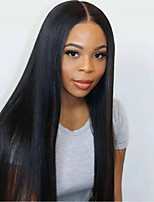 cheap -Remy Human Hair Wig Medium Length Long Straight Silky Straight Middle Part Natural Women Sexy Lady New U Part Burmese Hair Women's Natural Black #1B 12 inch 14 inch 16 inch