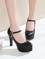 cheap -Women's Heels Spring / Fall Pumps Round Toe Daily PU Black / Pink / Beige