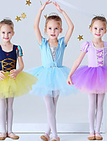 cheap -Princess Elsa Rapunzel Dress Flower Girl Dress Girls' Movie Cosplay A-Line Slip Purple / Yellow / Blue Dress Halloween Children's Day Masquerade Polyester