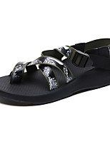 cheap -Women's Sandals Roman Shoes / Gladiator Sandals Summer Flat Heel Open Toe Daily Microfiber White / Yellow / Green