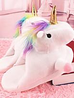 cheap -Adults' Kigurumi Pajamas Slippers Unicorn Anime Onesie Pajamas Plush White / Purple / Pink Cosplay For Men and Women Animal Sleepwear Cartoon Festival / Holiday Costumes