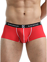 cheap -Men's Basic Boxers Underwear - Normal Low Waist White Black Red S M L