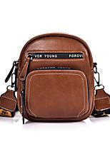 cheap -Women's Bags PU Leather Crossbody Bag Zipper for Shopping / Daily Black / Blue / Red / Green / Brown / Fall & Winter