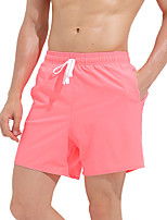 cheap -Men's Swim Trunks Elastane Bottoms Breathable Quick Dry Swimming Surfing Water Sports Solid Colored Summer / Stretchy