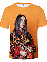 cheap -Inspired by Cosplay Billie Eilish Cosplay Costume T-shirt Pure Cotton Print Printing T-shirt For Women's