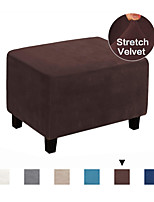 cheap -Ottoman Cover Velvet Slipcovers Rectangle Gray Footrest Sofa Slipcovers Footstool Protector Covers Stretch Fabric Storage Ottoman Covers High Spandex Velvet Slipcover Machine Washable