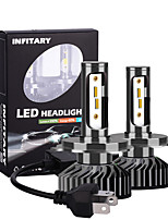 cheap -2pcs Ingitary Canbus Led Car Headlight Bulbs 16000Lm ZES Chips 6500K 4500K 3000K H4 H13 9004 9007 Auto Fog Light