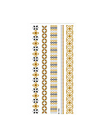 cheap -6 Sheets Randomly Metallic Temporary Tattoos Temporary Tattoos Flower Tattoo Designs Shimmer Glitter Designs Gold Tattoos  Geometric Tattoo Designs MT001-008