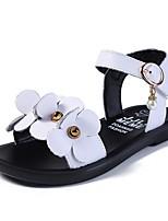 cheap -Girls' Sandals Comfort PU Big Kids(7years +) White / Black Summer