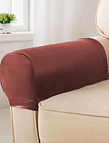 cheap -Elastic PU Leather Waterproof Stretch Armrest Covers Anti-Slip Furniture Protector Armchair Slipcovers 1 Set of 2