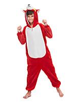 cheap -Kid's Kigurumi Pajamas Dog Onesie Pajamas Flannel Fabric Red Cosplay For Boys and Girls Animal Sleepwear Cartoon Festival / Holiday Costumes / Leotard / Onesie