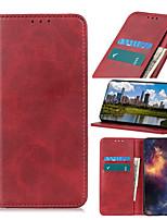 cheap -Case For  LG LG K10 2018 K30 K8 2018 K9 K40 K50 K30 2019 K40S K50S K20 2019 K41S K51S K61 K51 Card Holder Flip Magnetic Full Body Cases Solid Colored PU Leather TPU Vintage