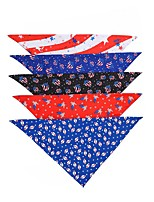 cheap -Dog Cat Bandanas & Hats Dog Bandana Dog Bibs Scarf National Flag Casual / Sporty Fashion Christmas Birthday Dog Clothes Adjustable Costume Polyester L