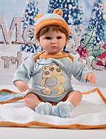 cheap -Reborn Baby Dolls Clothes Reborn Doll Accesories Cotton Fabric for 17-18 Inch Reborn Doll Not Include Reborn Doll Bear Soft Pure Handmade Boys' 4 pcs