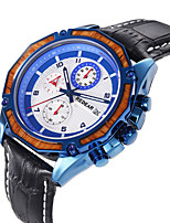 cheap -Men's Sport Watch Quartz Modern Style Sporty Casual Water Resistant / Waterproof Leather Analog - White+Blue Black Brown