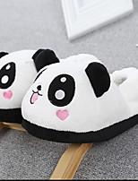 cheap -Adults' Kigurumi Pajamas Slippers Anime Panda Onesie Pajamas Plush Black / White Cosplay For Men and Women Animal Sleepwear Cartoon Festival / Holiday Costumes