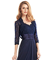 cheap -3/4 Length Sleeve Shrugs Lace Wedding / Party / Evening Women's Wrap With Lace / Appliques