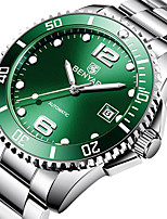 cheap -BENYAR Men's Mechanical Watch Automatic self-winding Modern Style Sporty Casual Water Resistant / Waterproof Stainless Steel Analog - Black Blue Green / Calendar / date / day / Noctilucent