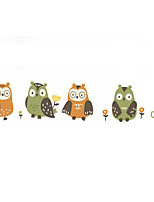 cheap -Cartoon Owl Colorful Wall Sticker Creative Children's Room Decoration Sticker PVC Self Adhesive