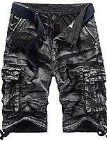 cheap -Men's Hiking Shorts Hiking Cargo Shorts Summer Outdoor Loose Breathable Sweat-wicking Multi-Pocket Wear Resistance Cotton Shorts Bottoms Light Coffee Jungle camouflage Grey Khaki Dark Green Camping