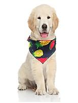 cheap -Dog Dog Bandana Dog Bibs Scarf Triangle Bibs Accessories Dog Clothes Adjustable Light Yellow Blue-Yellow White Costume Golden Retriever Corgi Shiba Inu Fabric Fruit Casual / Sporty Cute S M