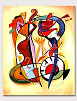 cheap -Mintura Large Size Hand Painted Abstract Musical Instruments Oil Painting on Canvas Modern Pop Art Wall Pictures For Home Decoration No Framed Rolled Without Frame