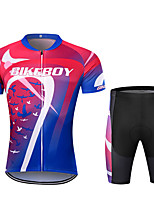 cheap -BIKEBOY Men's Short Sleeve Cycling Jersey Cycling Shorts Red+Blue Bike Quick Dry Sports Mountain Bike MTB Road Bike Cycling Clothing Apparel / Stretchy