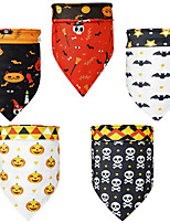 cheap -Dog Cat Bandanas & Hats Dog Bandana Dog Bibs Scarf Cartoon Party Casual / Sporty Party Halloween Dog Clothes Adjustable Costume Polyster L
