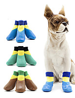 cheap -Dog Cat Boots / Shoes Waterproof Sports & Outdoors Casual / Daily Animal Sports and Outdoors Fashion For Pets Cotton Purple