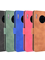 cheap -Case For Huawei P40 P40Pro P40lite P40liteE Y7P Honor 9C V30 V30Pro Mate 30 30Pro Nova 6 6(5G) 6SE 7i Wallet  Shockproof Magnetic Full Body Cases Solid Colored PU Leather TPU