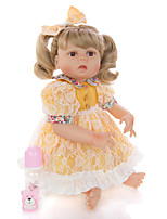 cheap -KEIUMI 22 inch Reborn Doll Baby & Toddler Toy Reborn Toddler Doll Baby Girl Gift Cute Washable Lovely Parent-Child Interaction Full Body Silicone 23D31-C145 with Clothes and Accessories for Girls