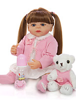 cheap -KEIUMI 22 inch Reborn Doll Baby & Toddler Toy Reborn Toddler Doll Baby Girl Gift Cute Washable Lovely Parent-Child Interaction Full Body Silicone 22D11-C116-H21-T19 with Clothes and Accessories for