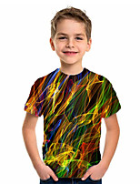cheap -Kids Boys' Sports & Outdoors Basic Holiday Geometric Print Short Sleeve Tee Green