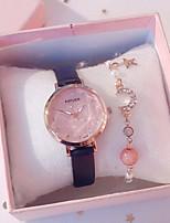 cheap -Women's Quartz Watches Quartz Modern Style Stylish Classic Chronograph PU Leather Black / White / Pink Analog - Rose Gold White Black