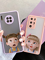 cheap -Case For Huawei  30 40 30pro 40pro Translucent Pattern Back Cover Cartoon TPU  Silicone