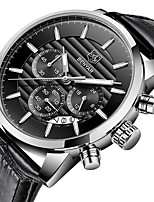 cheap -BENYAR Men's Sport Watch Quartz Modern Style Stylish Luxury Water Resistant / Waterproof Stainless Steel Leather Analog - Golden / Brown Black / Silver Black+Gloden / Calendar / date / day